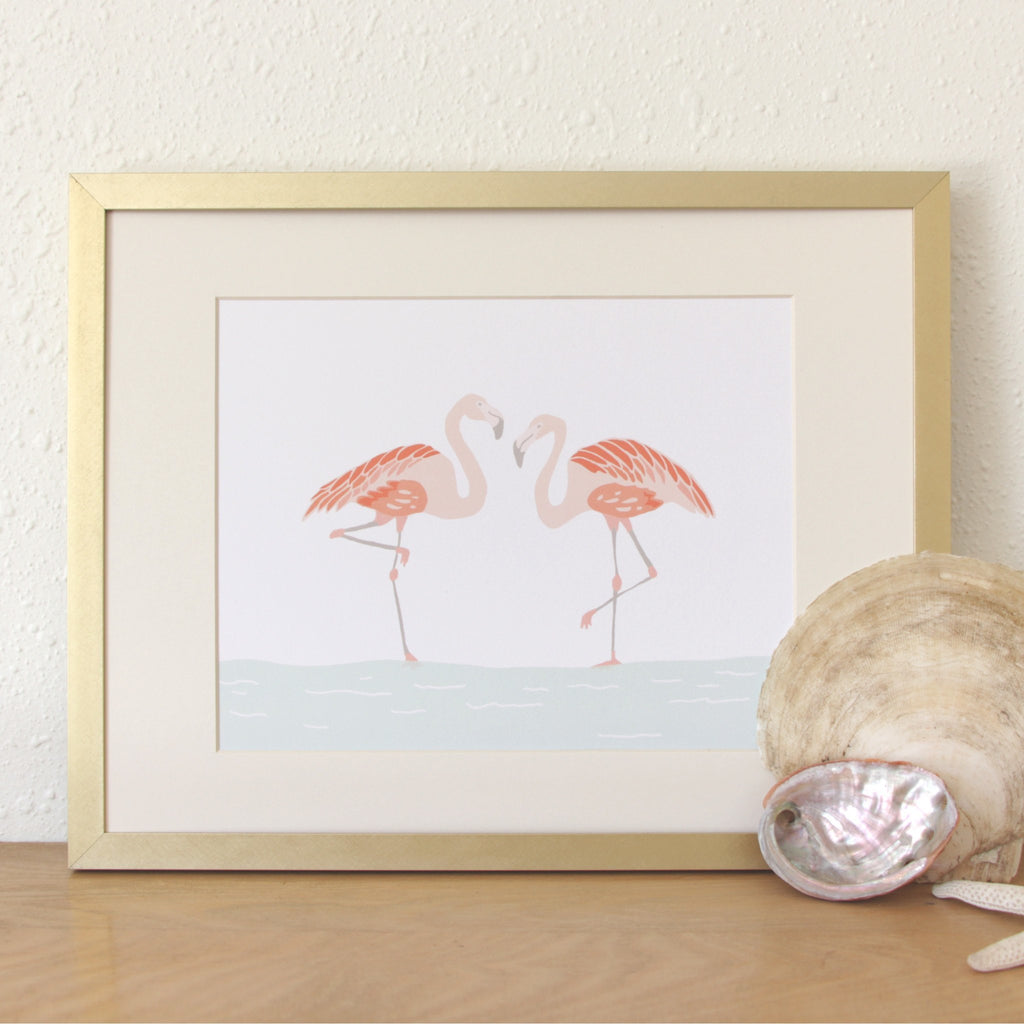 Art Prints - Art Prints - Flamingos Art Print
