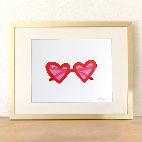 SALE! Heart Sunnies Art Print