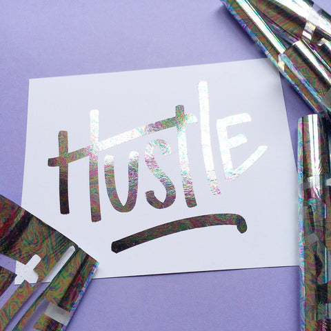Holographic Hustle Art Print