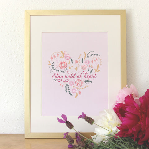 SALE! Wild At Heart Art Print