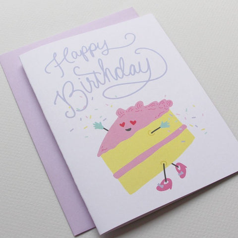 Cakewalk Birthday Card