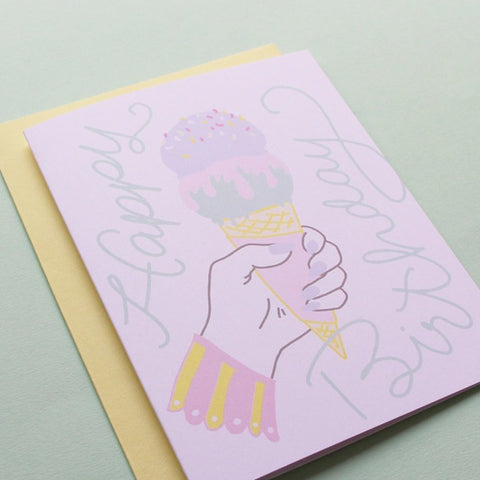 Ice Cream Dreams Birthday Card