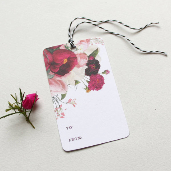 Cards & Tags - Gift Tags - Botanist Study Gift Tags