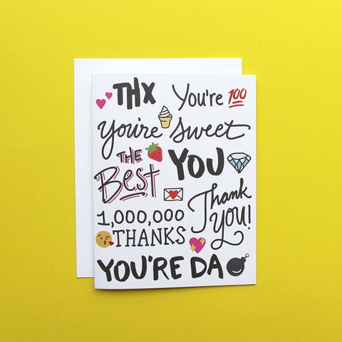 Emoji Thx Card
