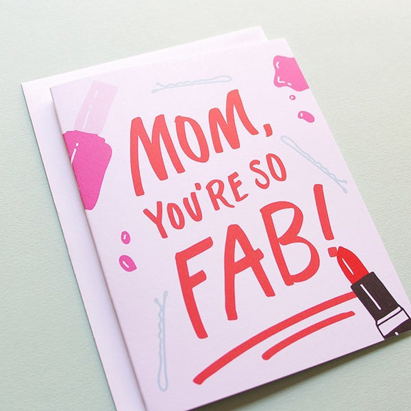Cards & Tags - Love & Friendship - Fab Mom Card