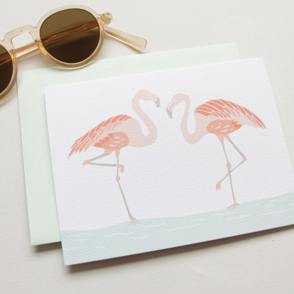 Cards & Tags - Love & Friendship - Flamingos Card