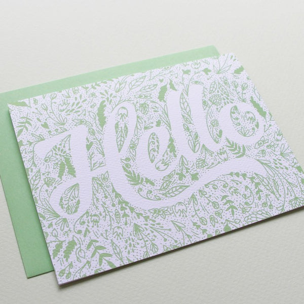 Cards & Tags - Love & Friendship - Hello Spring Garden Card