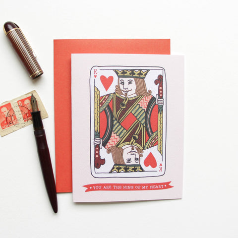 Cards & Tags - Love & Friendship - King Of Hearts Card