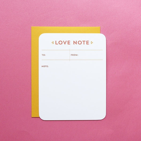Cards & Tags - Love & Friendship - Love Note