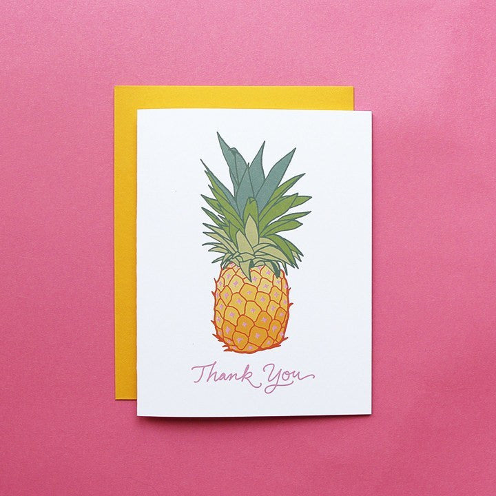 Cards & Tags - Love & Friendship - Pineapple Express Thank You Card
