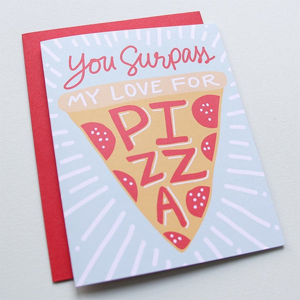 Cards & Tags - Love & Friendship - Pizza My Heart Card