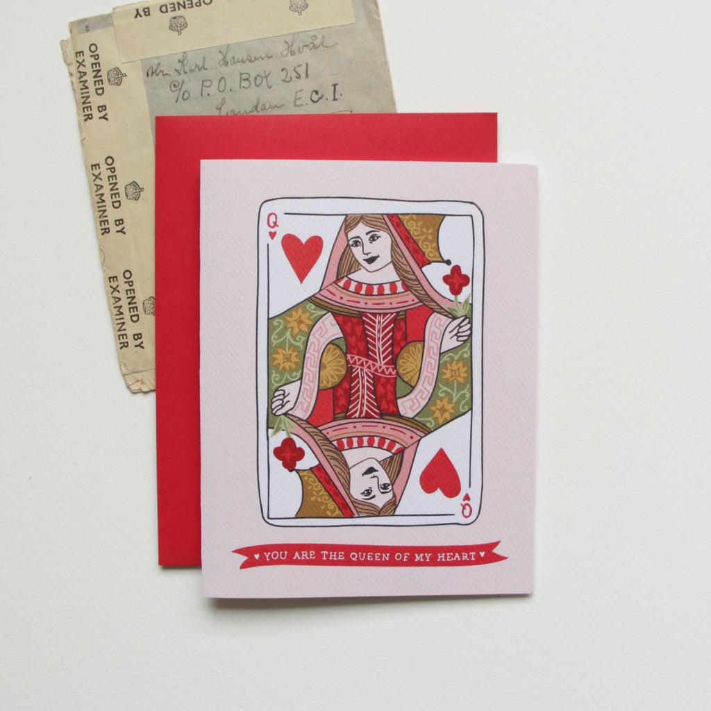 Cards & Tags - Love & Friendship - Queen Of Hearts Card