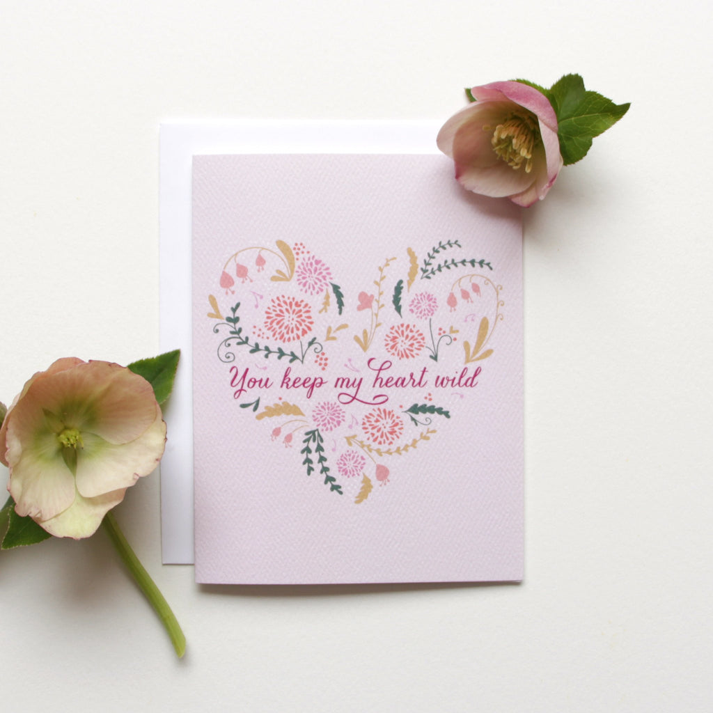 Cards & Tags - Love & Friendship - Wild At Heart Card