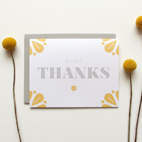 Cards & Tags - Thank You - Fresh Petals Many Thanks Card