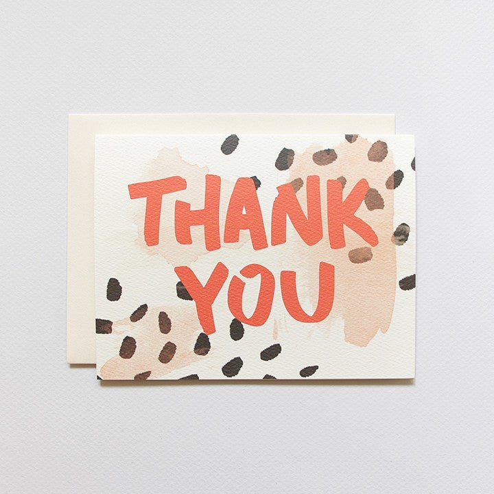 Cards & Tags - Thank You - Spotted Thank You Card