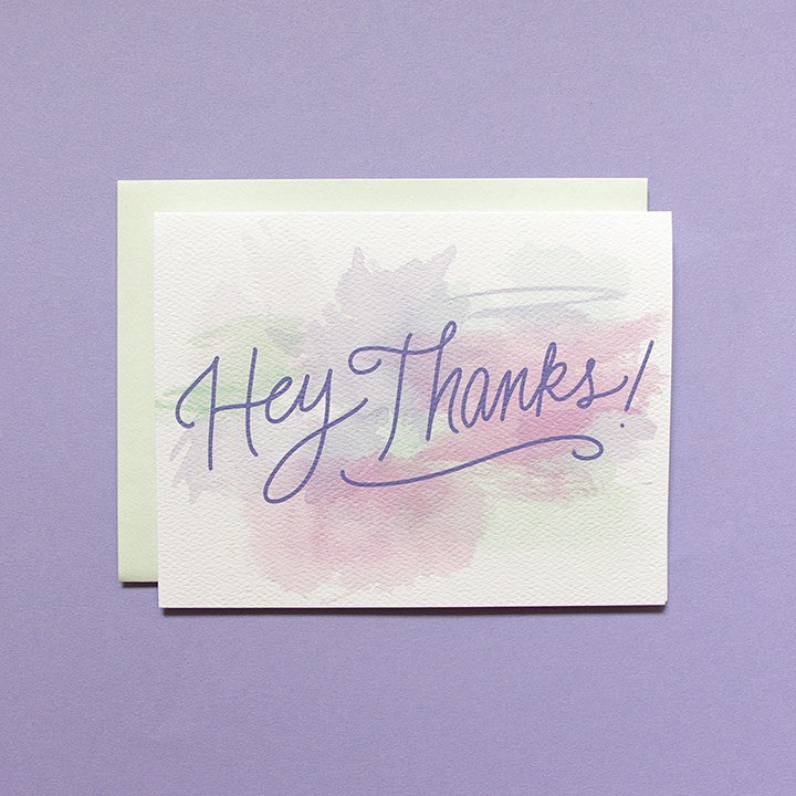 Cards & Tags - Thank You - Watercolor Study Thank You Card