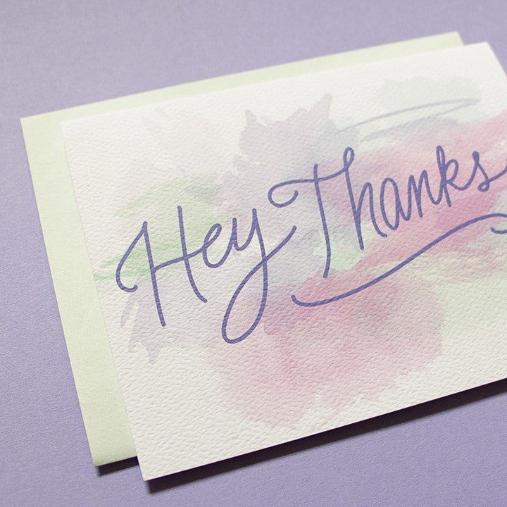 watercolor study thank you card little arrow