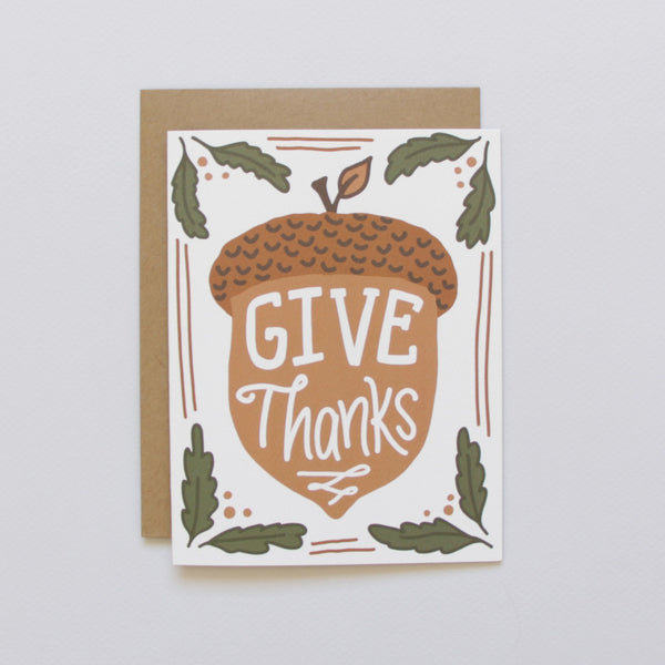 Cards & Tags - Thanksgiving - Acorn Vignette Card