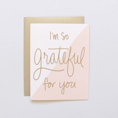 Cards & Tags - Thanksgiving - Colorblock Grateful Card