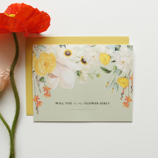 Cards & Tags - Wedding - Will You Be My Flower Girl? Card