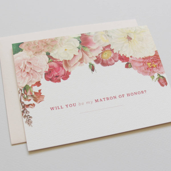 Cards & Tags - Wedding - Will You Be My Matron Of Honor? Card