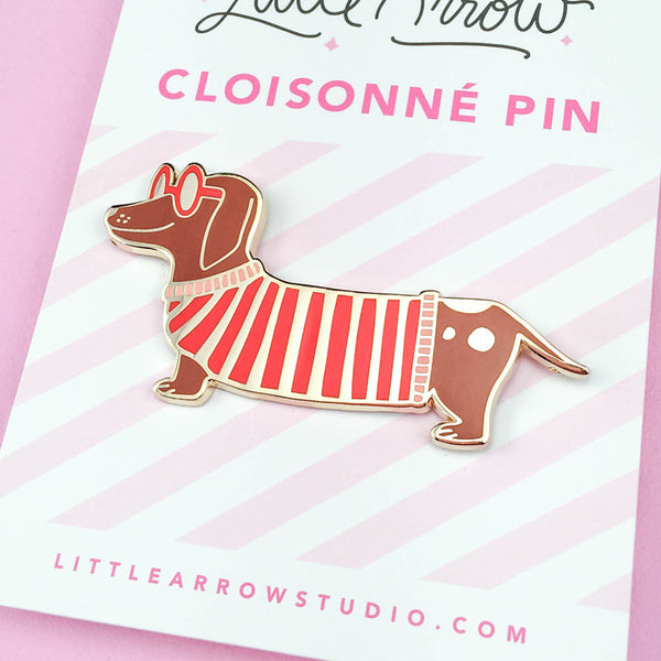 Mr. Wiener Dog Lapel Pin
