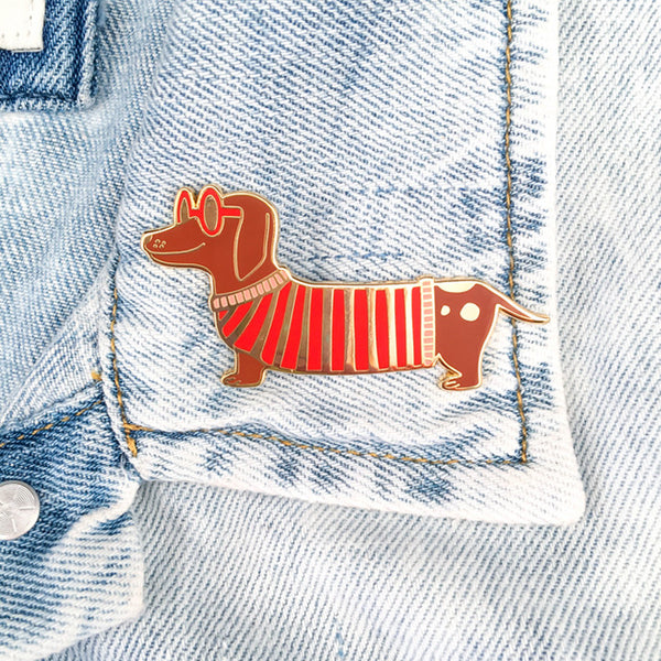Mr. Wiener Dog Pin