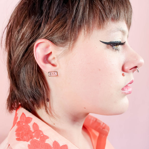 GRL PWR Stud Earrings