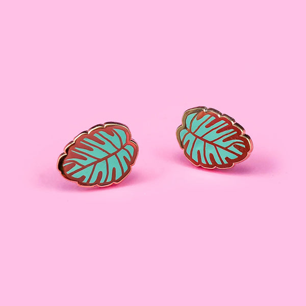Monstera Leaves Stud Earrings