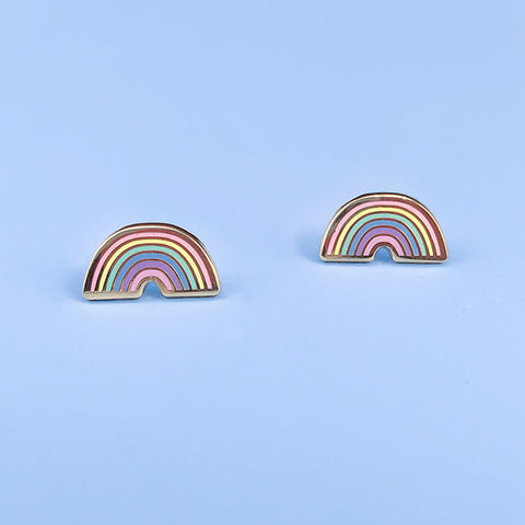 Pastel Rainbow Stud Earrings