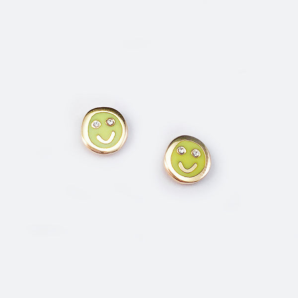 Tiny Smiley Face Earrings