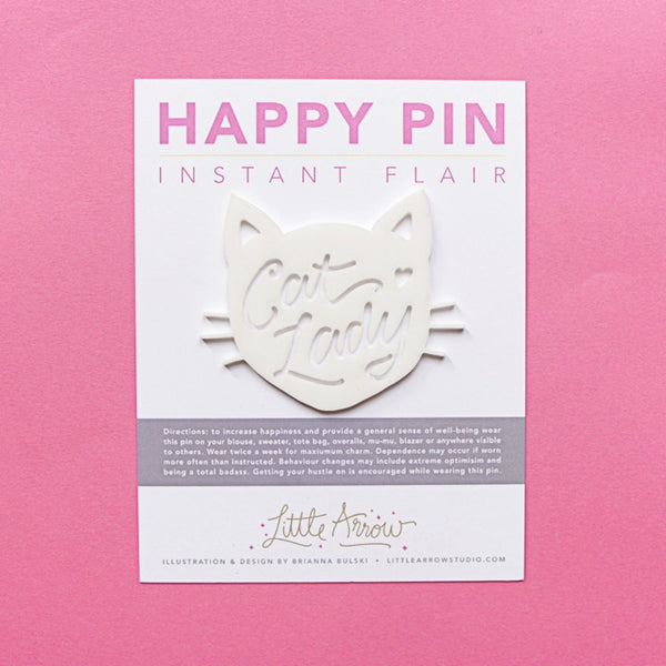 Gifts - Happy Pins - Cat Lady Happy Pin