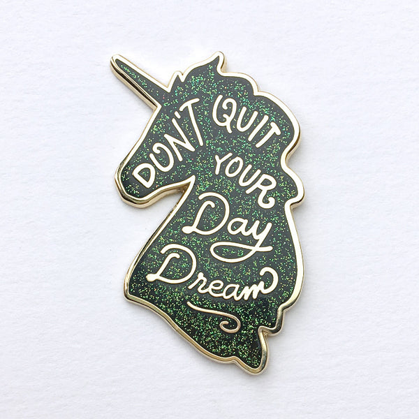 Unicorn Day Dreams Lapel Pin - Galaxy Glitter