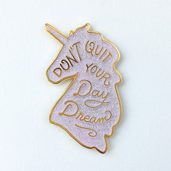 Unicorn Day Dreams Lapel Pin - Pink Glitter Limited Edition