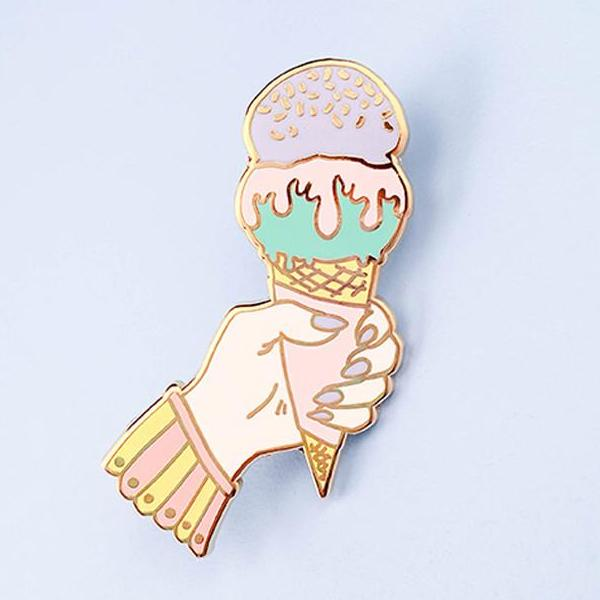 Ice Cream Addict Lapel Pin
