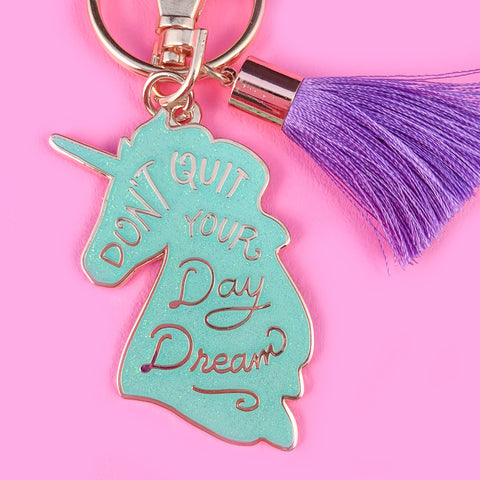 Unicorn Daydreams Keychain - Mint