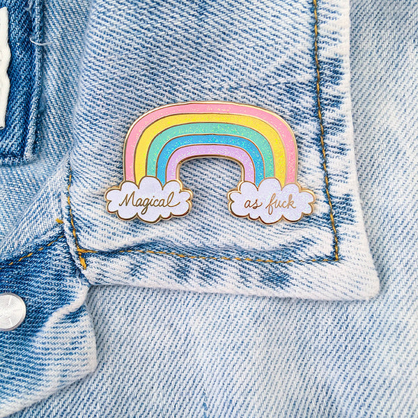 Magical AF Rainbow Lapel Pin