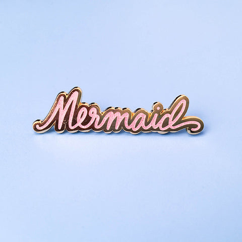 Mermaid Pin - Pink Glitter