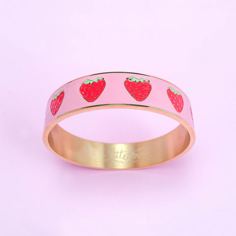 Strawberry Patch Bangle Bracelet