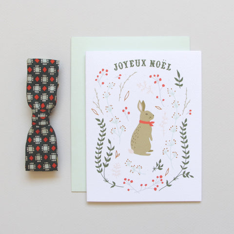 SALE! Winter Hare Holiday Card