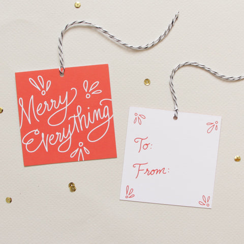Merry Everything Holiday Gift Tags