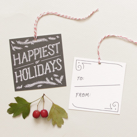 Pine Boughs Holiday Gift Tags
