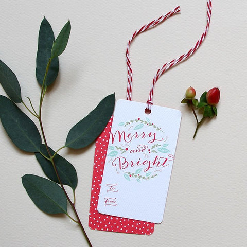 Winter Bouquet Holiday Gift Tags