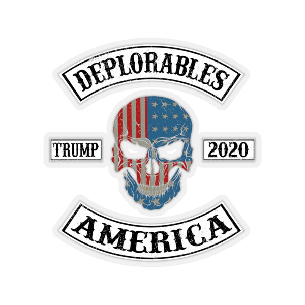 DEPLORABLES - Kiss-Cut Stickers in 4 sizes - Trump 2020, maga, kag, wwg1wga, Bikers for Trump