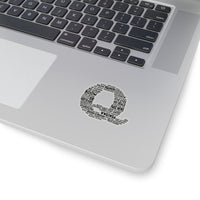 Q Text Stickers - 4 Sizes