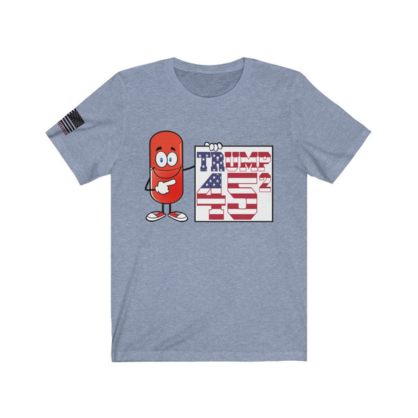 FREE Shipping!! - Red Pill Trump 45 - Bella & Canvas Unisex Jersey Short Sleeve Tee - Trump 2020, Red Pilled, Red Pill, Election, Patriot