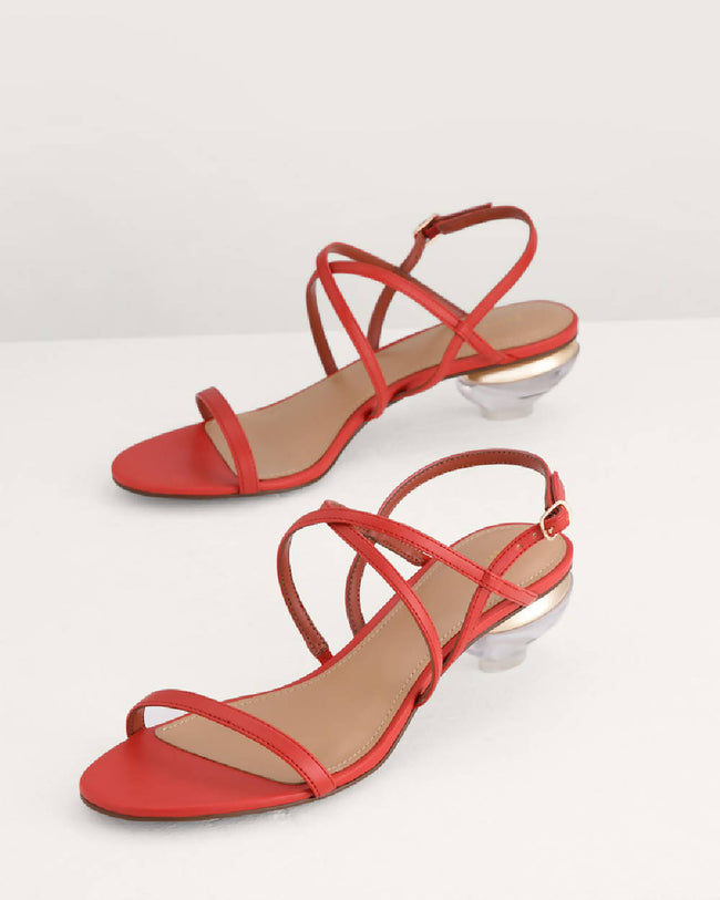 Strappy Heeled Slingback Sandals