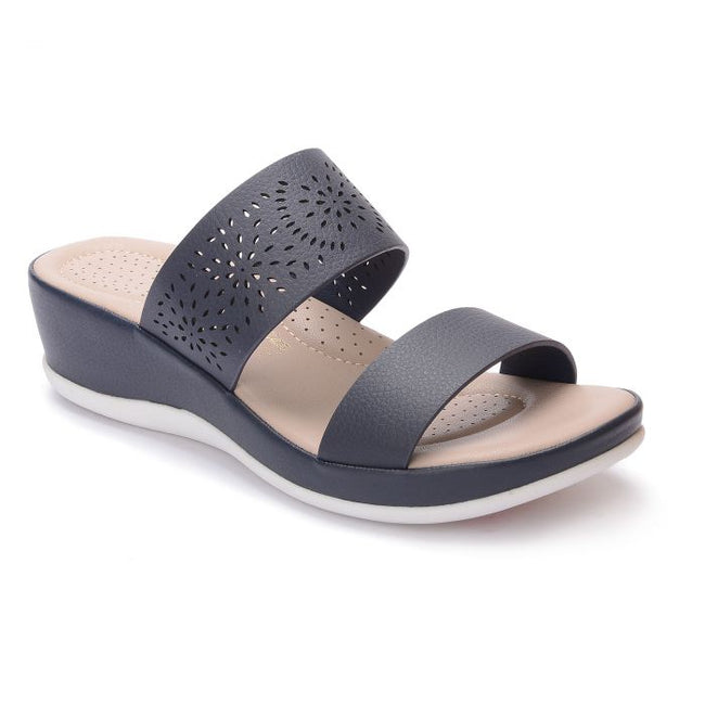 BATA COMFIT LADIES NAVY SANDAL