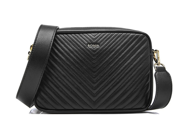 Bonia Shoulder Bag Full Leather Black