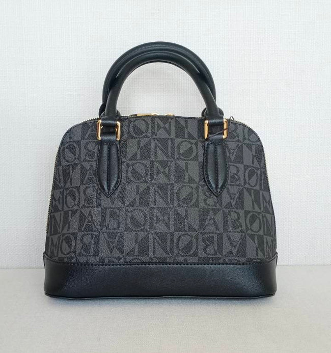 Bonia Handbags Vinyl Leather Black